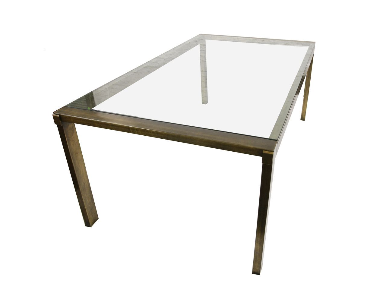 Mastercraft brass dining table - Revision Home Chicago Mastercraft Brass Dining Table Call For Pricing 312 226