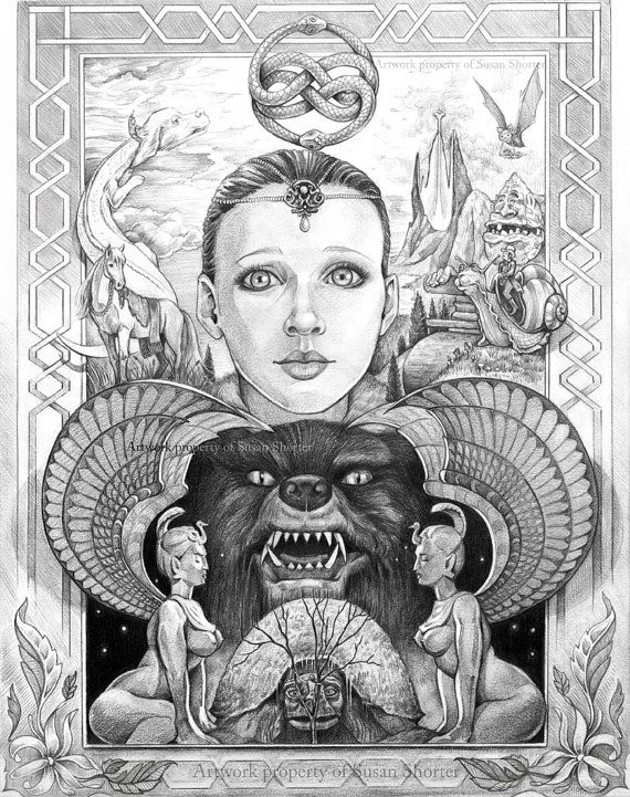 neverending story coloring pages | Ode to The Neverending Story by susanshorter on Etsy, $15 ...