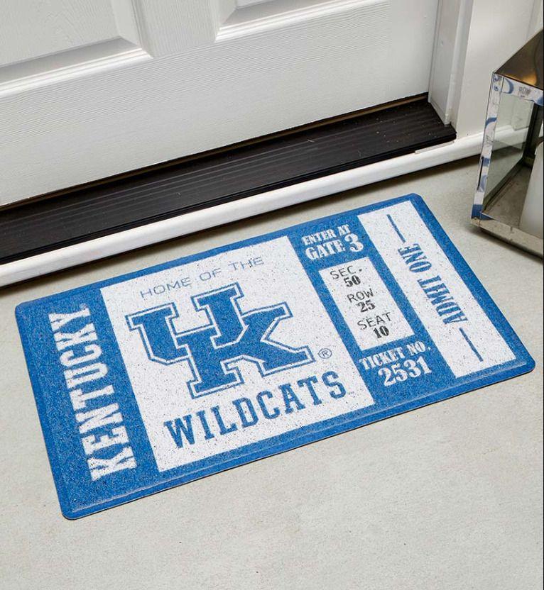 Kentucky wildcats doormat novelty ticket design for front