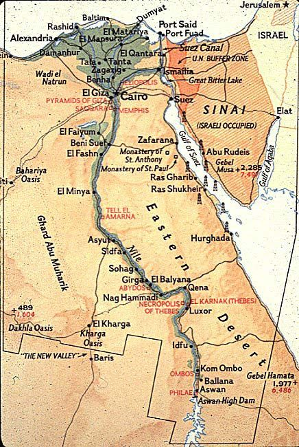 Ancient Map Of Egypt With The Tutankhamen Era Aswan High Dam And - Map of egypt history