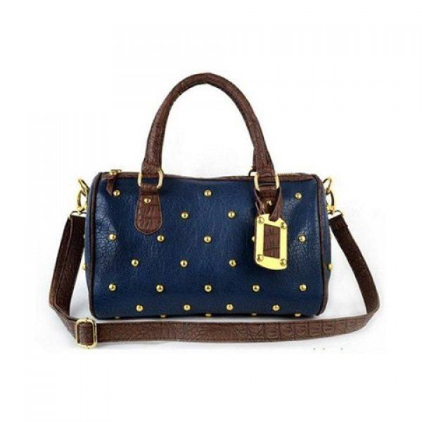Casual Vintage Cheap Stud and Zipper Design Women's Tote, BLUE in Tote Bags | DressLily.com