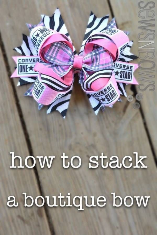 """The Right Way to Stack a """"Boutique"""" Bow #hairbows"""