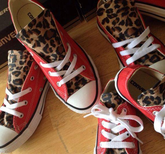 1ba7d83b45bd Custom Chucks Red Leopard hand made Chuck Taylor by MizMaryMacks ...