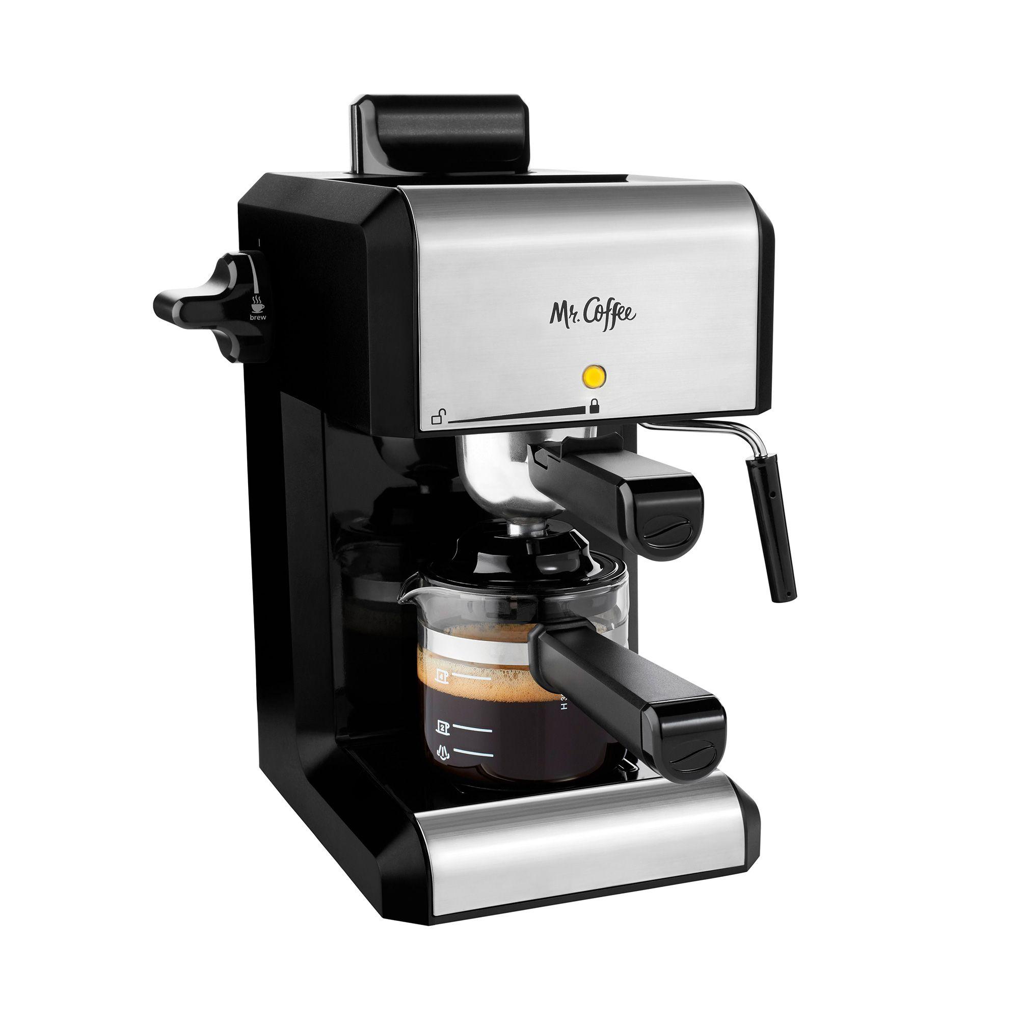 Mr. Coffee Caf Steam Automatic Espresso and Cappuccino Machine, 20 oz, Silver - Walmart.com