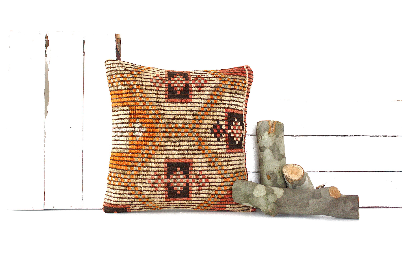Boho pillow Wintage pillow Kilim pillow Kilim pillow cover Turkish pillow Decorative pillow Kilim cushion Home living Home design