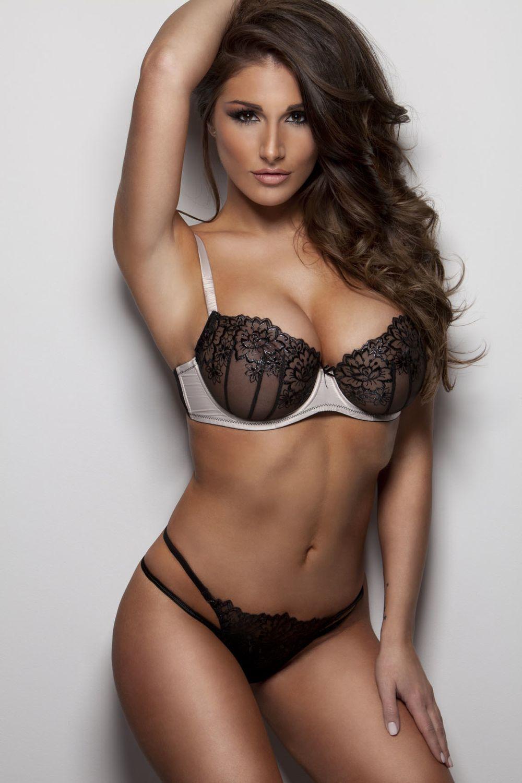 Lucy pinder brown bikini