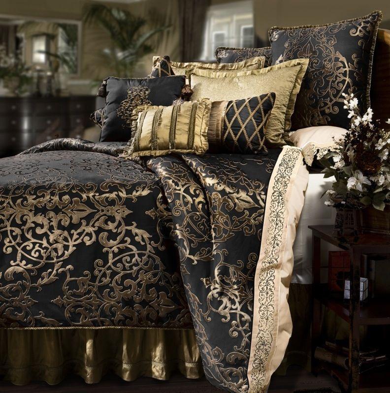 Pin By Caroline Debo On Black Gold Everything Comfortable Bedroom Bedroom Comforter Sets Comforter Sets