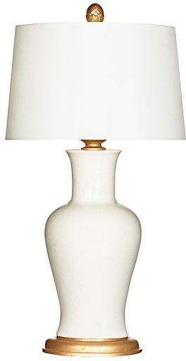 Bradburn Home Shiloh Table Lamp Cream Glaze Table Lamp Lamp Ceramic Table Lamps