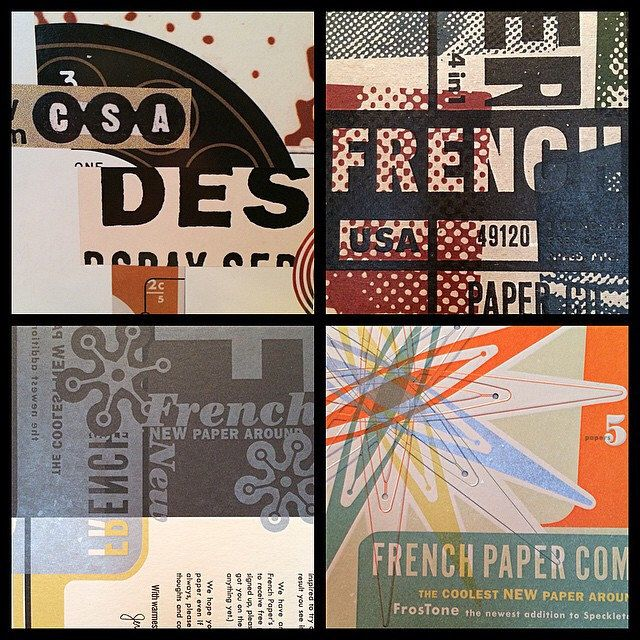 What's not to love about collage, letterpress, metallic inks and French Paper?…