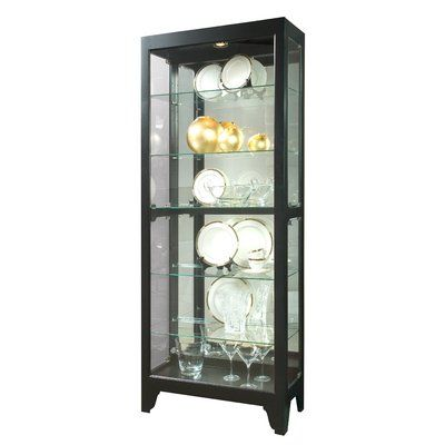 Greyleigh Winters Lighted Curio Cabinet Curio Cabinet Pulaski