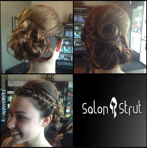Prom Updo At Salon Strut In Yucaipa Model Casey Stylist Chelsea