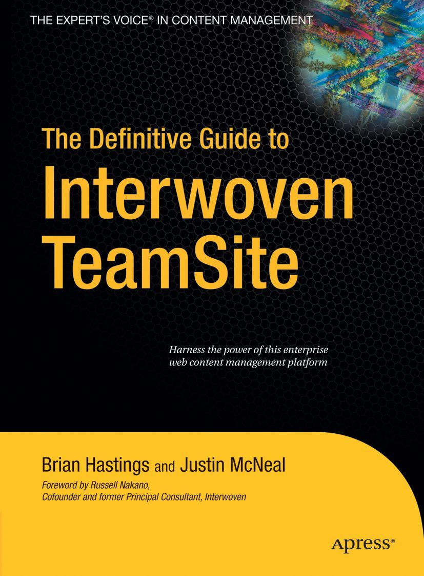 Image of The Definitive Guide to Interwoven TeamSite