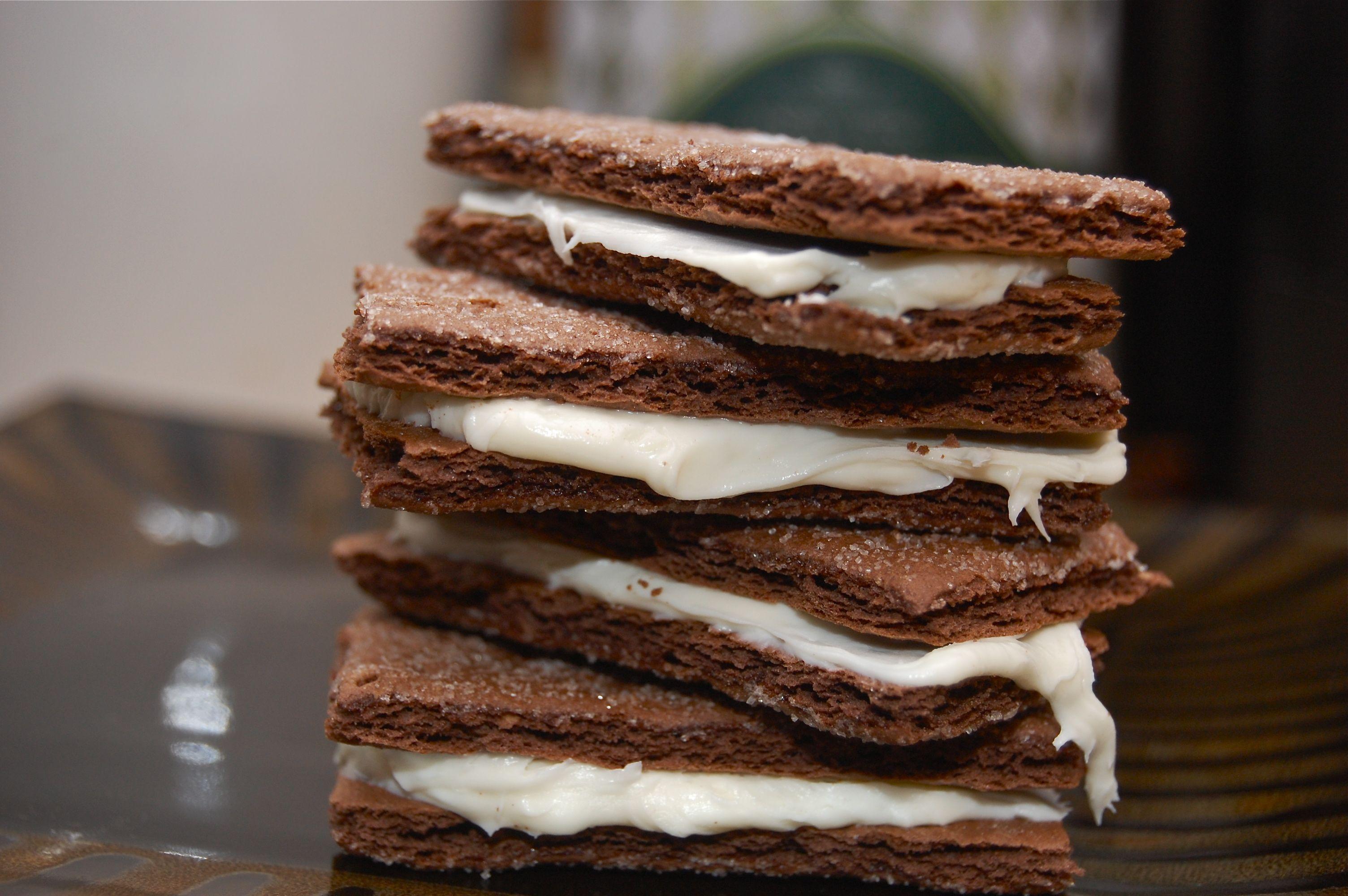 Cheap Oreo Imitations Chocolate Graham Crackers Easy Snacks Cream Cheese Cookies
