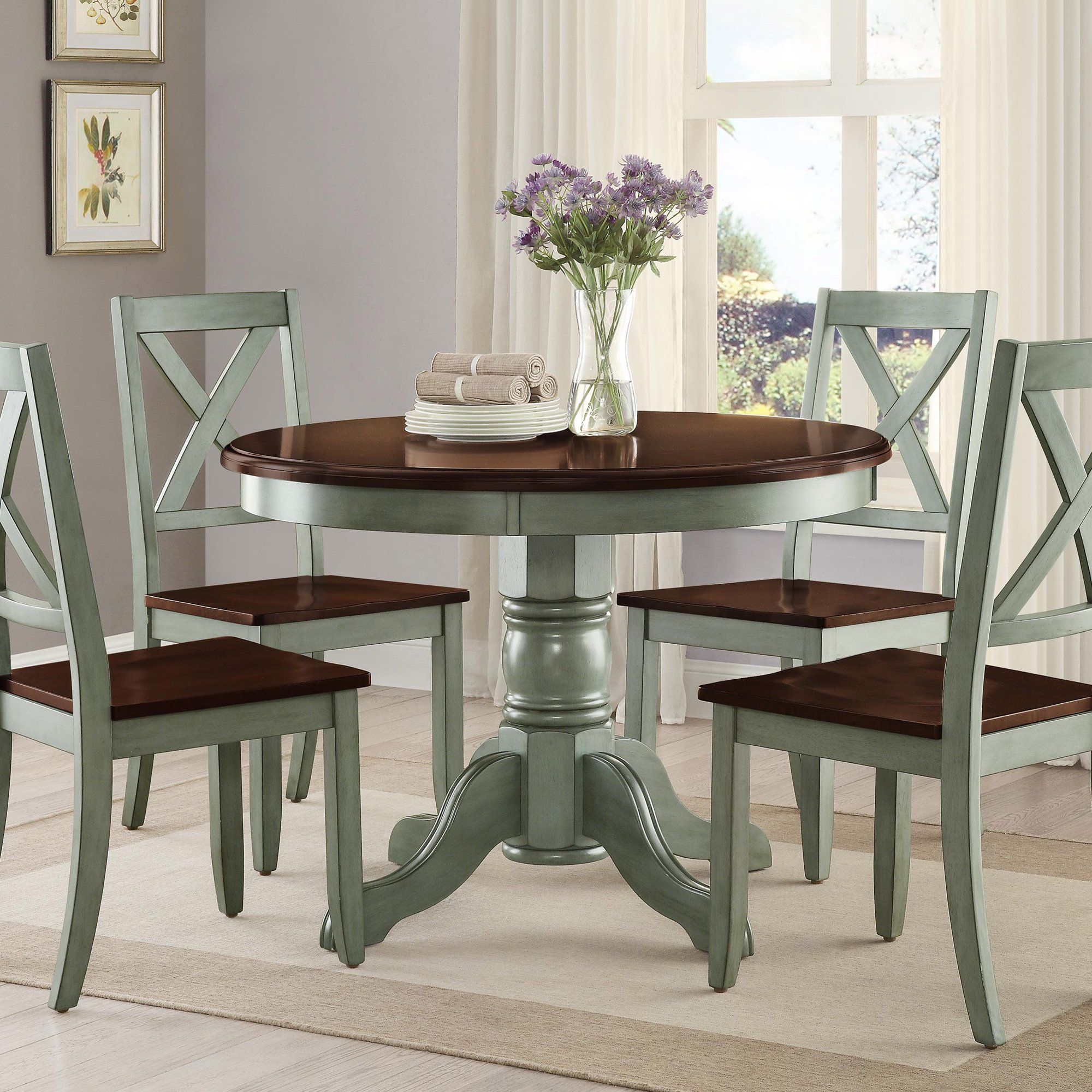 Better Homes And Gardens Cambridge Place Dining Table Multiple Finishes Walmart Com In 2020 Round Pedestal Dining Table Round Pedestal Dining Dining Table