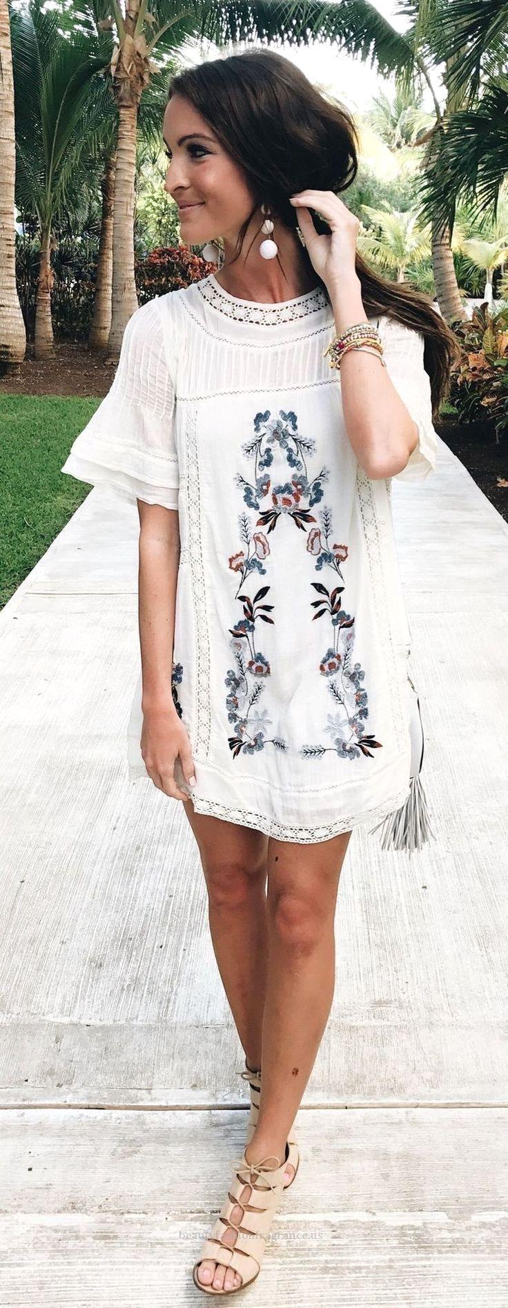 Embroidered dressu embroidered dress