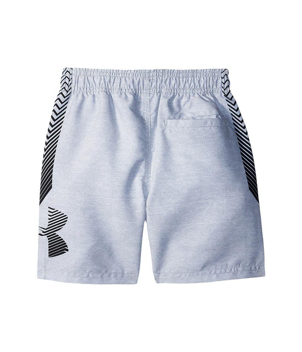 349b23f96e Under Armour Kids Big Logo Volley (Toddler) Boy's Swimwear Overcast Gray