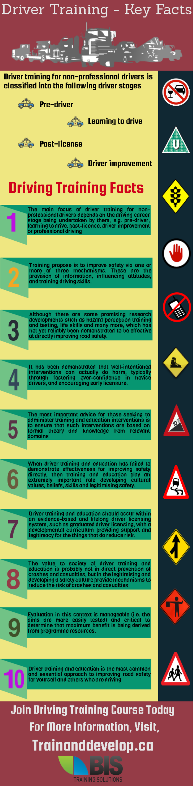 Driver safety training facts safety