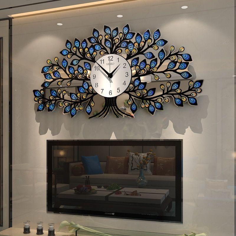 Luxury Large Wall Clock Living Room Wall Home Decorative Art Clock Mechanism Quartz Watc Large Wall Clocks Living Room Wall Clocks Living Room Clock Wall Decor