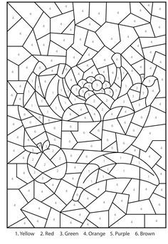Hard Color By Number Coloring Pages