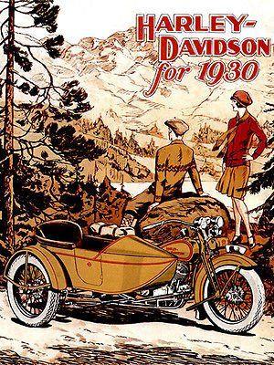 "24/"" x 36/"" Poster Old Harley Davidson Chopper Bike"