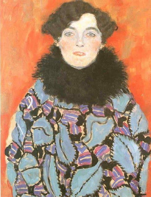 Gustav Klimt Portrait of Johanna Staude (unfinished), 1917-1918, oil on canvas, 70 x 50 cm, Galerie Belvedere, Vienna, Austria.