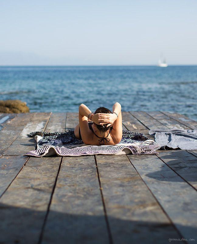 San Giorgio, Mykonos, ocean, dock / Garance Doré