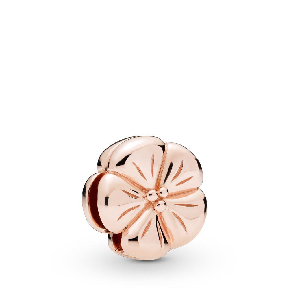 Pandora Reflexions™ Classic Flower Clip Charm, Pandora Rose ...