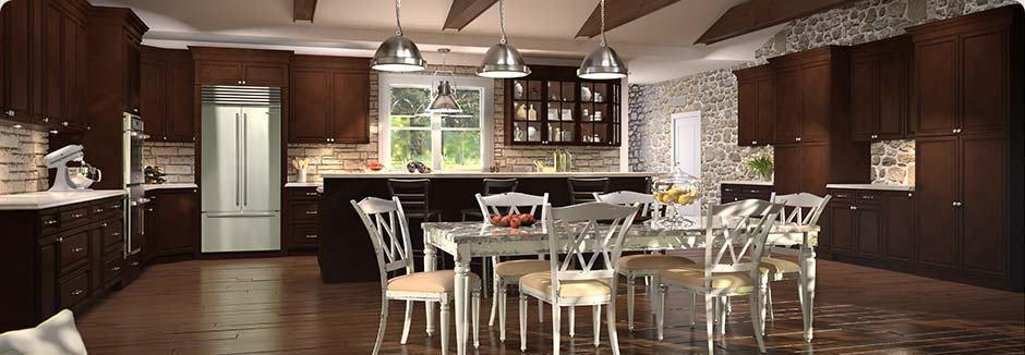 tsg forevermark signature brownstone kitchen cabinet rta cabinetry ...