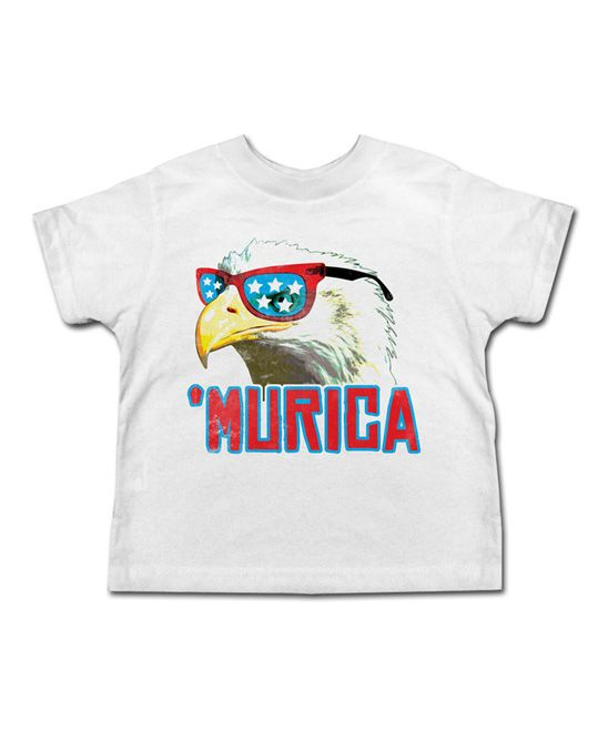 39c4f72b White ''Murica' Eagle Tee - Toddler & Kids | Products
