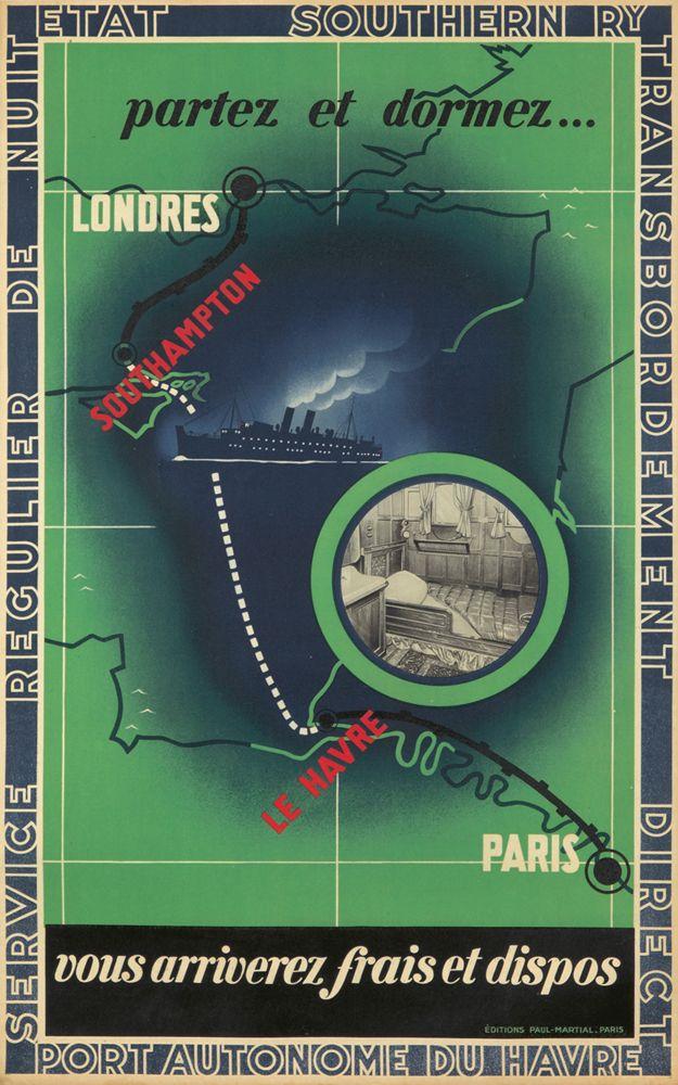 Southern Railways / Londres-Paris. ca. 1935