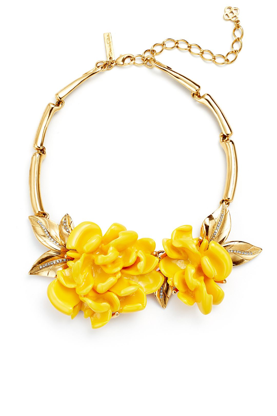 2bbca0b6c Rent Marigold Resin Flower Necklace by Oscar de la Renta for $125 only at  Rent the Runway.