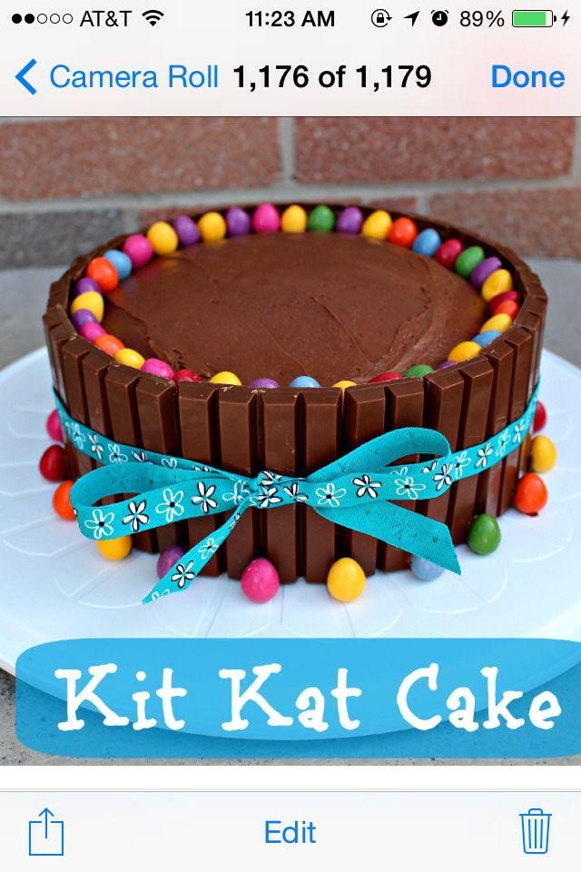 Kit Kat Cake Kit kat cakes Food and drink and Cake