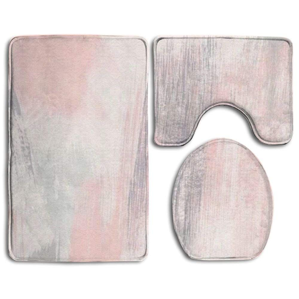 Gohao Pink Gray Painting 3 Piece Bathroom Rugs Set Bath Rug Contour Mat And Toilet Lid Cover Walmart Com In 2021 Bathroom Rug Sets Bathroom Rugs Rug Sets [ 1000 x 1000 Pixel ]
