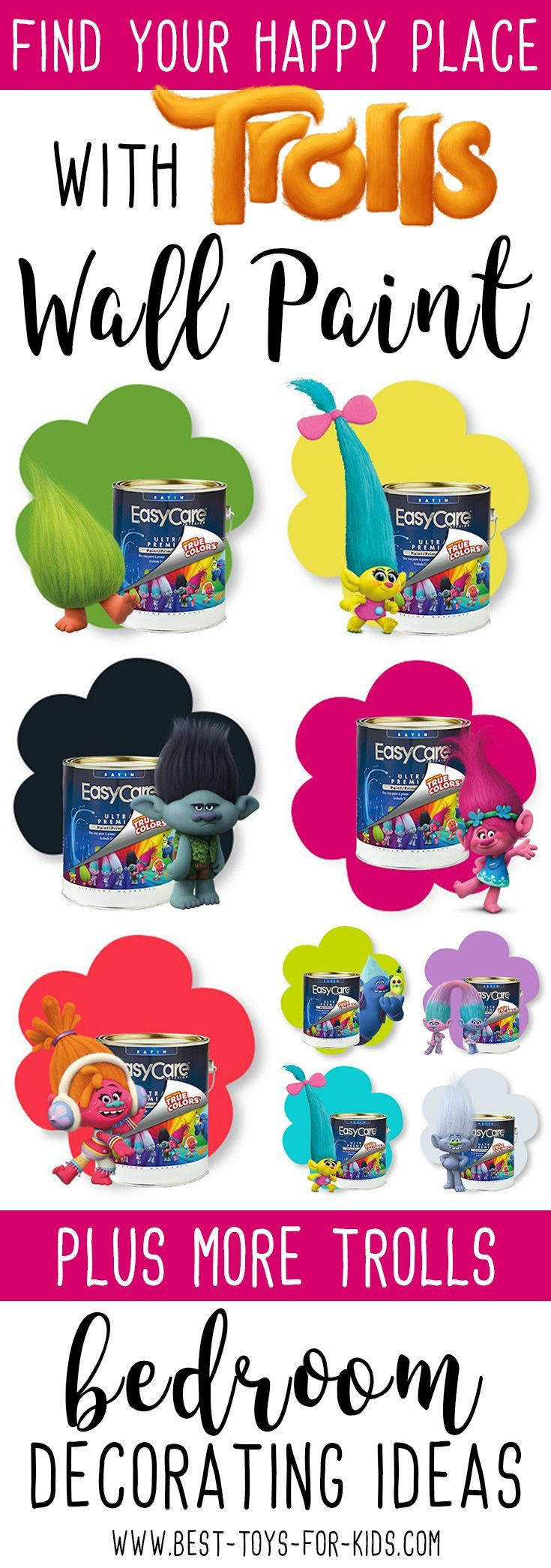 Dreamy Trolls Decorating Ideas For Bedrooms Best Toys For Kids Bedroom Decor Room Ideas Bedroom Kids Bedroom Decor