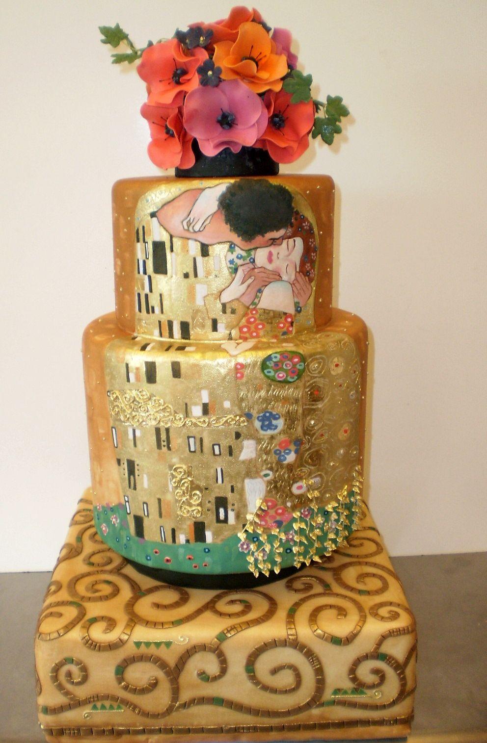 The Klimt Wedding Cake (designed for a pseudo wedding of ...