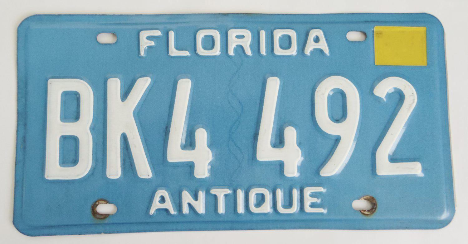 Florida+Antique+Car+License+Plate $17.99 free shipping sold ...