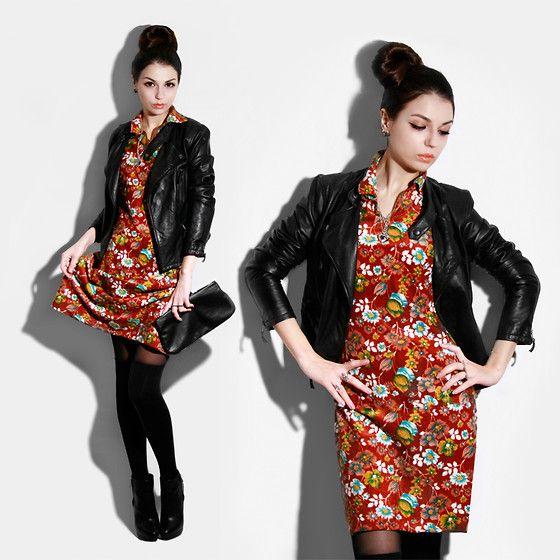 Madebyme Velvet Dress, Zara Jacket, Vintage Clutch (With ...