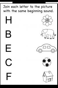 beginning sound   School worksheets, Printable preschool ...