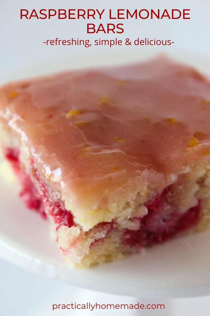 Top US dessert blogger, Practically Homemade, features their DELICIOUS Raspberry Lemonade Bars Recipe. A fmaily favorite. Click here now for all the info!!