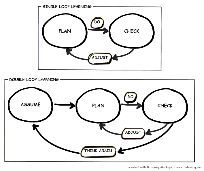 single-loop learning and double-loop learning in what year