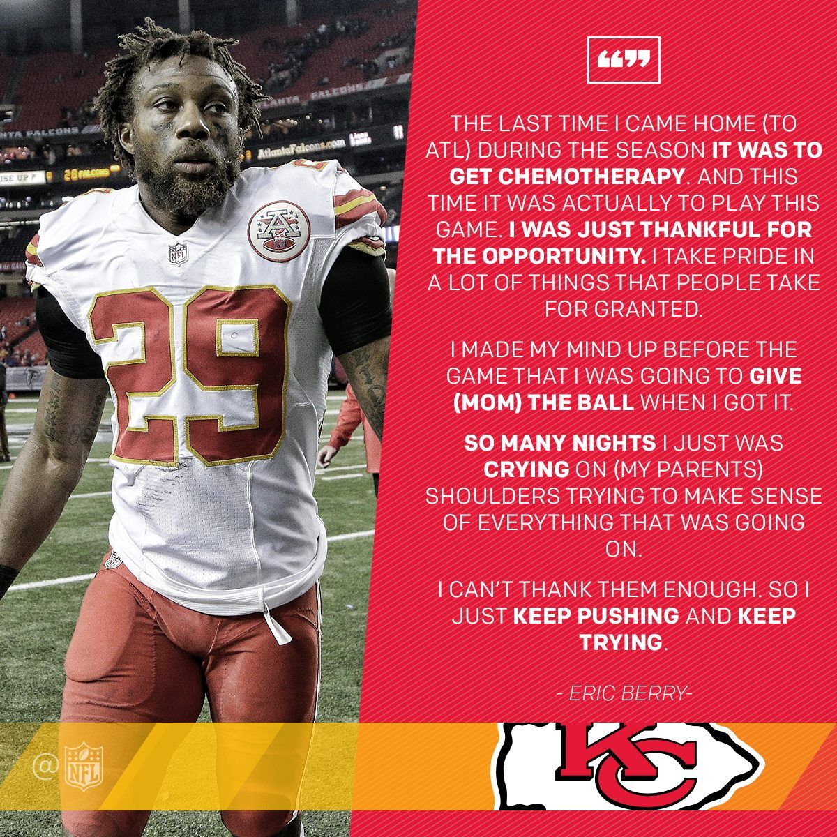 This Quote Eric Berry Eric Berry Kansas City Chiefs Football Athlete Quotes