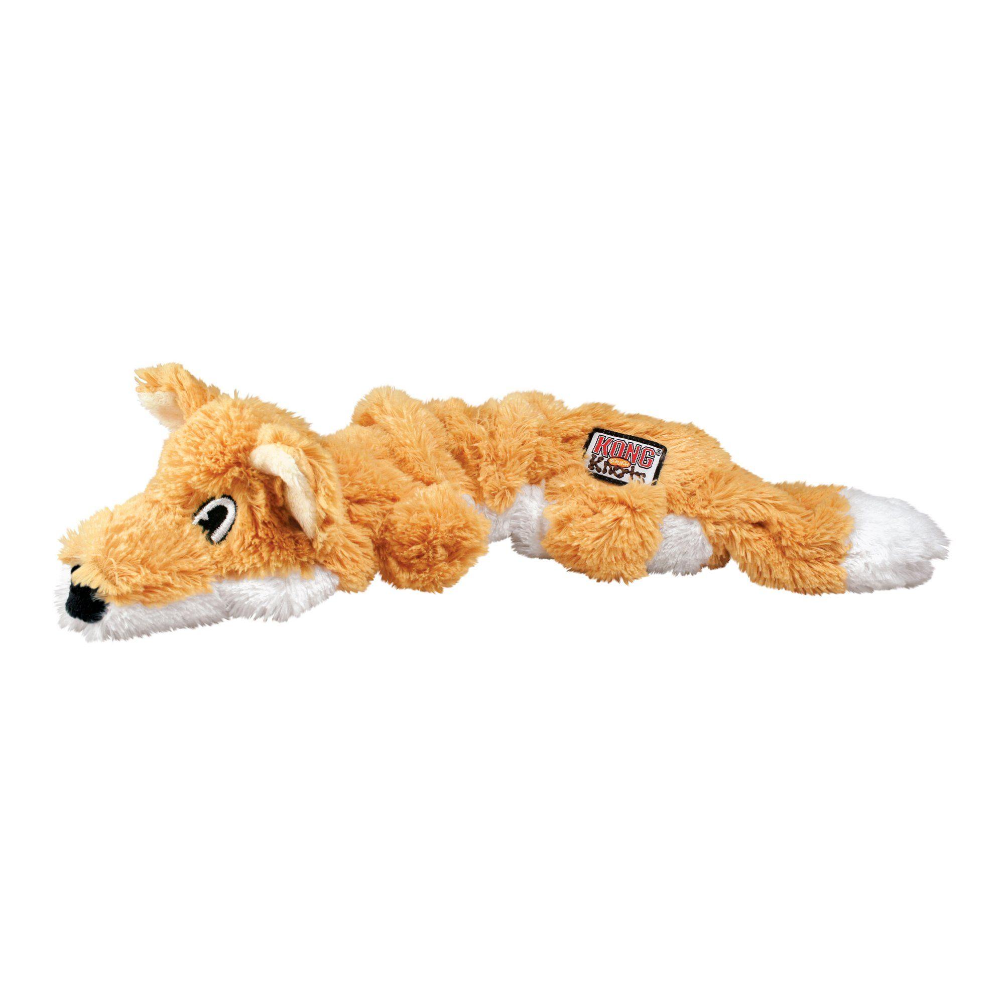 Kong Scrunch Knots Fox Dog Toy Large Brown Dog Toys Fox Dog