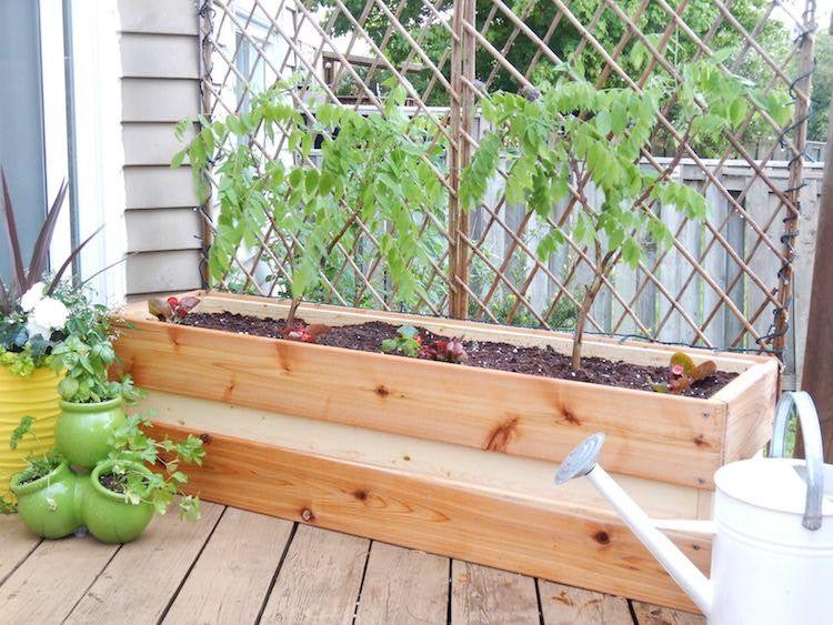 Faire Une Jardiniere En Bois Et La Decorer Joliment Pour En Profiter