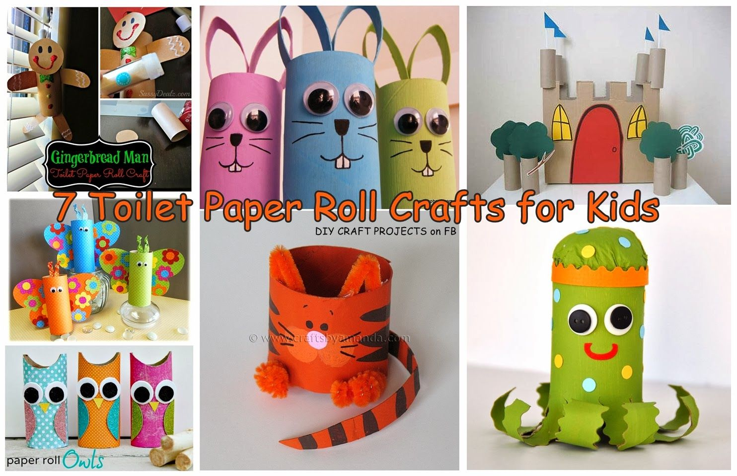 Toilet Roll Craft Ideas For Kids Part - 15: 7 Toilet Paper Roll Crafts For Kids
