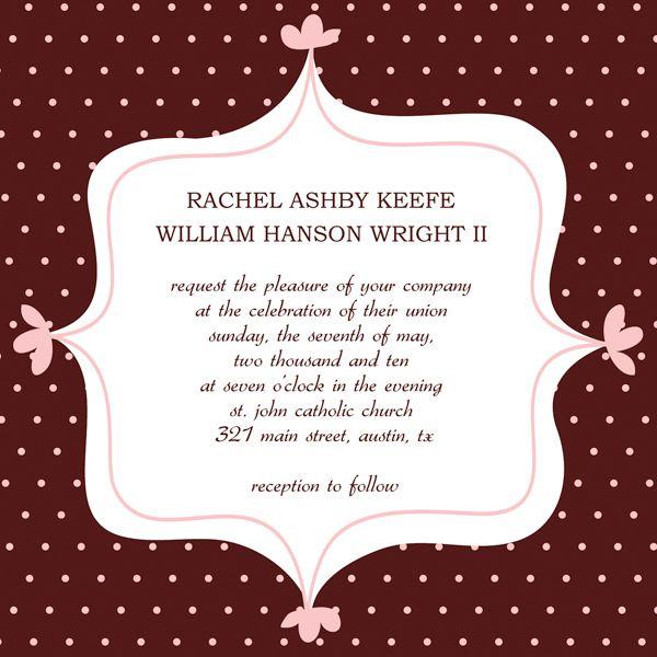 wedding invitation templates wi 1107 Wedding Invitation Wording - invitation word template