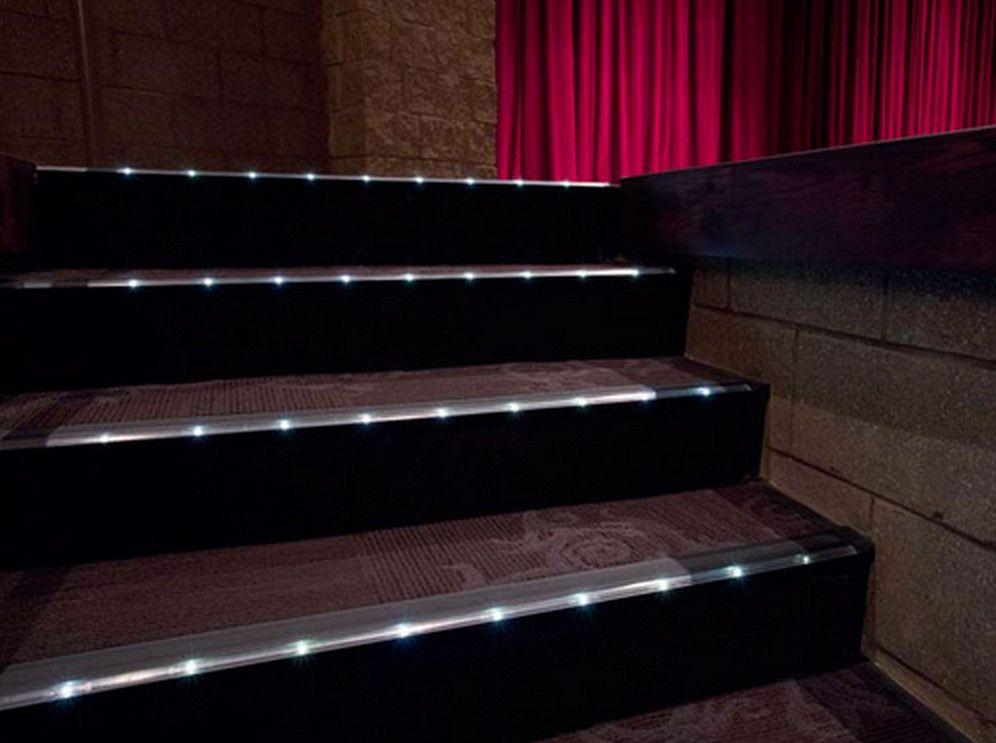 Lovely Home Theater Step Lighting