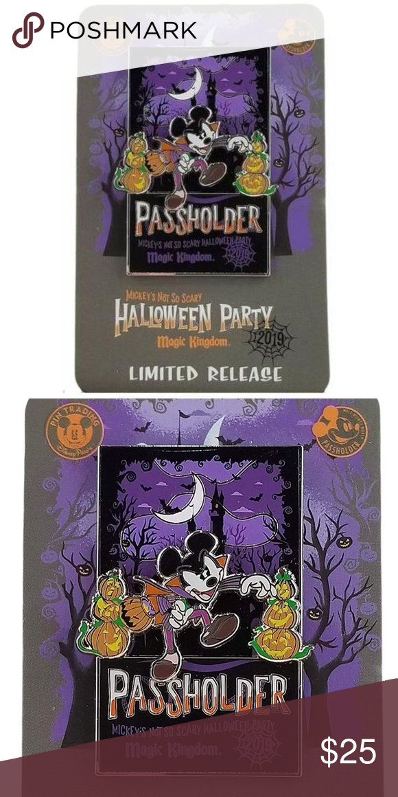 Mickeys Halloween Party Annual Passholder Pins 2020 DISNEY HALLOWEEN PASSHOLDER VAMPIRE MICKEY PIN in 2020 | Disney
