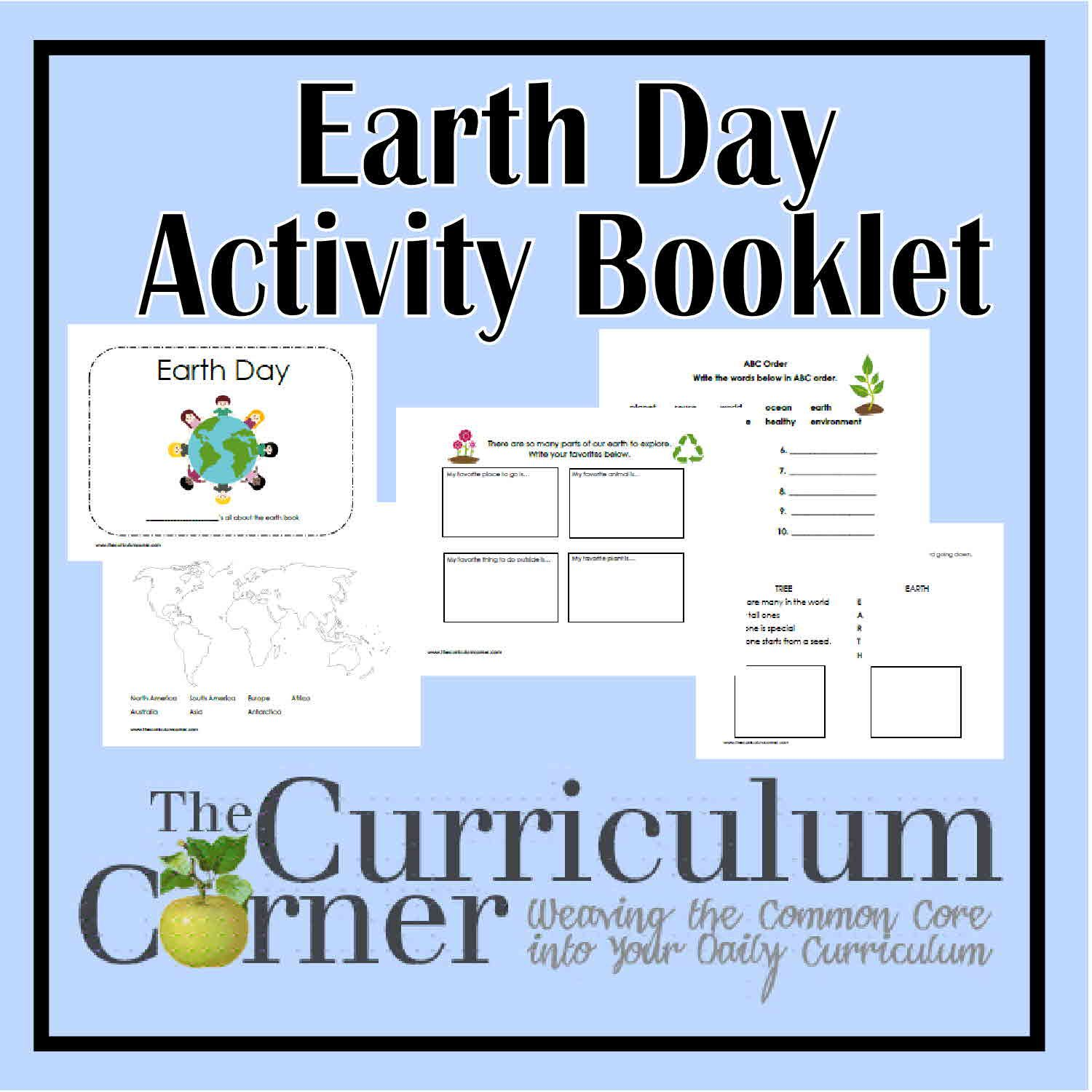 Earth Day Activity Booklet Earth Free printable and Activities