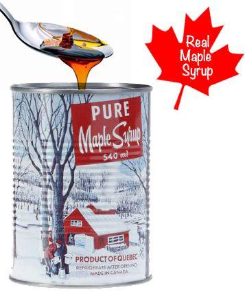 Real Canadian Maple Syrup 18 OZ Sirop D'Érable PUR 100 Québec 540 ML