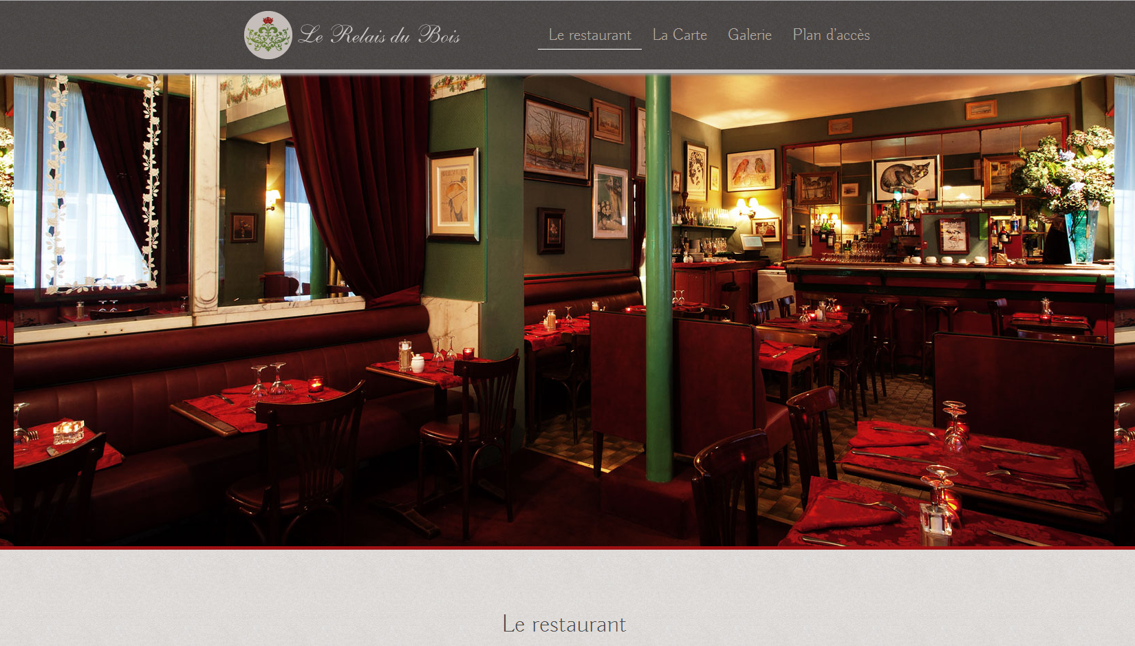Identité et site web (conception/rédaction) - Identity and website (conception / writing) #webdesign #restaurant #paris #website